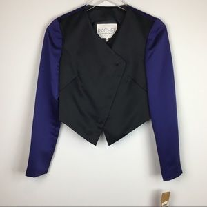 RACHEL Rachel Roy Satin Like Two Toned Blazer